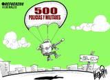 500 políticos y militares