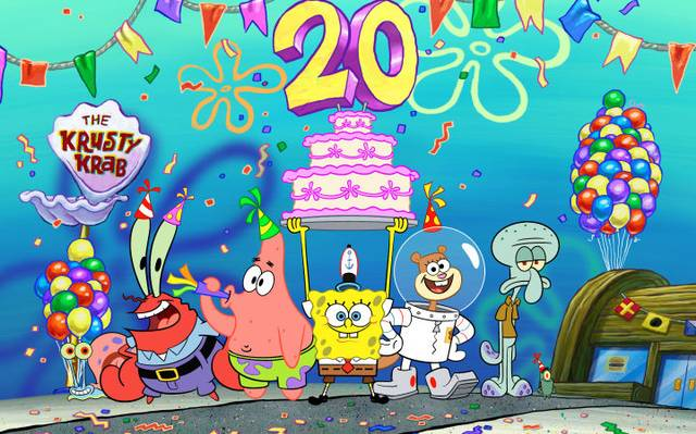 Feliz Cumpleaños Bob Esponja Hoy Se Cumplen 20 Años Del Primer