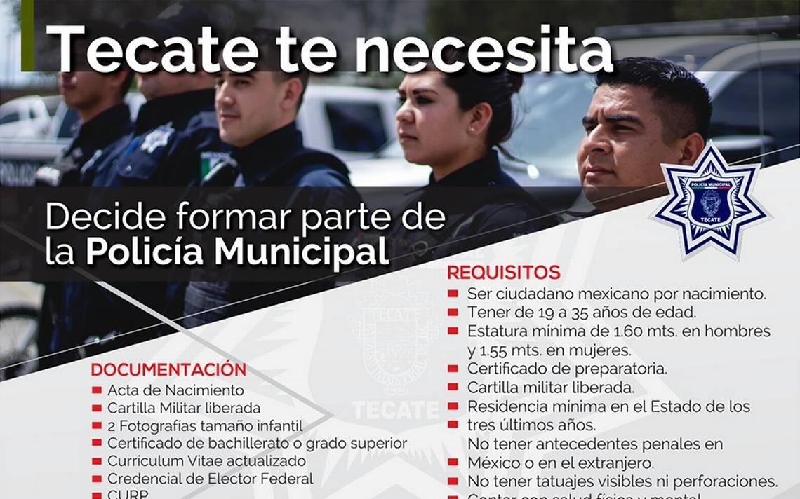 Convocan para formar parte de la Policía Municipal - El Sol de Tijuana